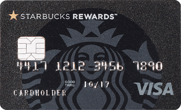 Image of Chase credit card featuring the Starbucks logo